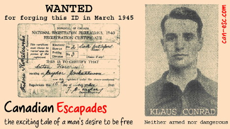 Link to Book poster: WANTED for forging this ID in March 1945
