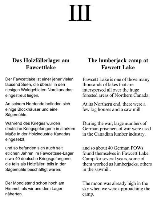 Link to Page 17: The lumberjack camp at Fawcett Lake