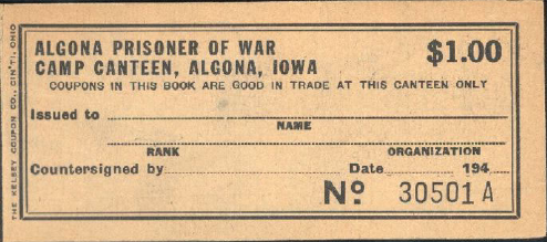 Link to Earning, spending and saving at POW Camp Algona (Iowa)
