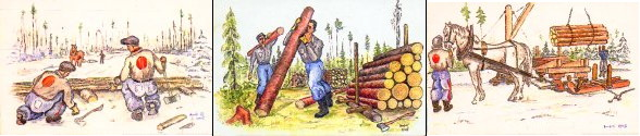 Link to Hans Krakhofer's art from a POW lumberjack camp